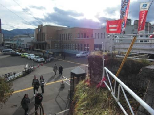 三角市場から小樽駅はすぐそこ