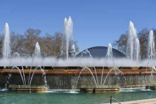 バルセロナ 美術館前噴水