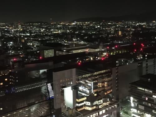京都タワー展望台から南を望む