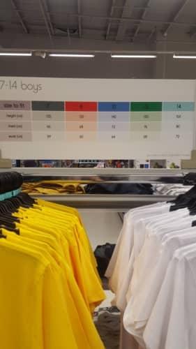 洋服のサイズ表記