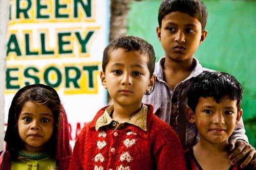 インド人の子供達