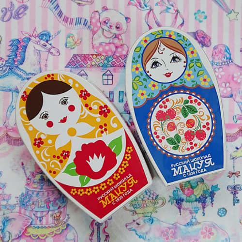 マツヤのロシアチョコレート化粧箱