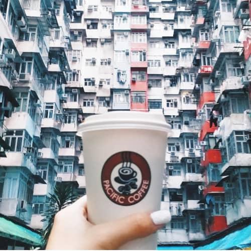パシフィックコーヒーのカップ