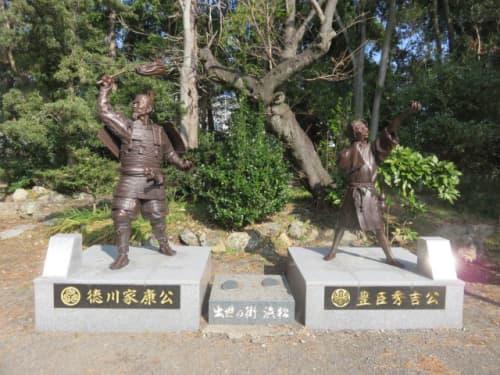 元城町東照宮の二公像