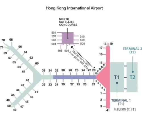 香港国際空港マップ