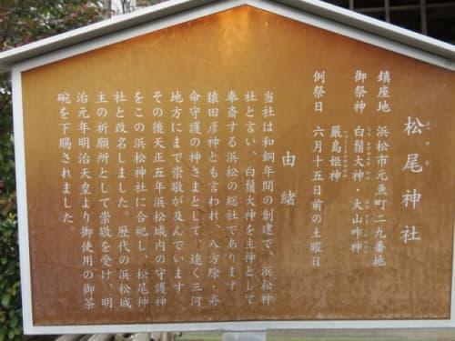 松尾神社の駒札