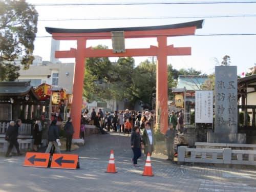 五社神社・諏訪神社の鳥居