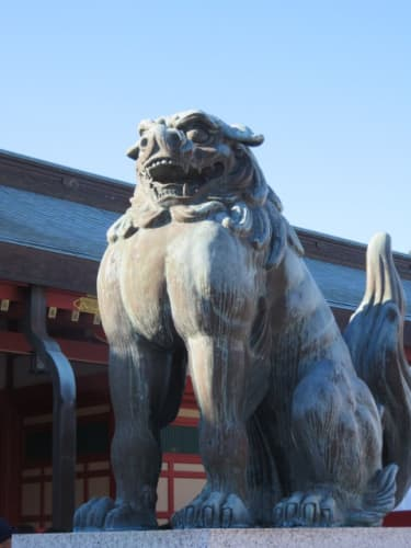 五社神社・諏訪神社の狛犬
