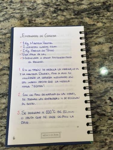 スペイン語のレシピ