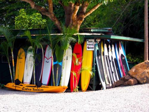 ハワイのサーフボードショップ