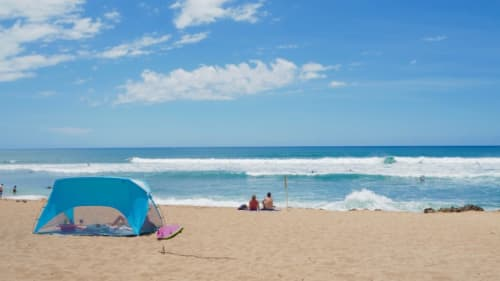 ハワイの青い海と青い空