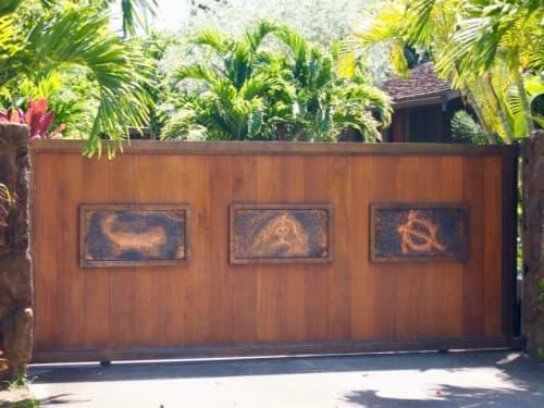 ハワイらしい家の門