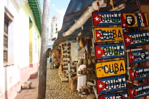 キューバのお土産市場