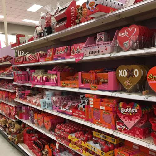 Targetのバレンタインコーナー