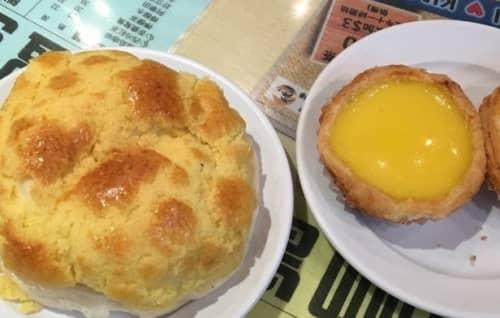 香港のパイナップルパン