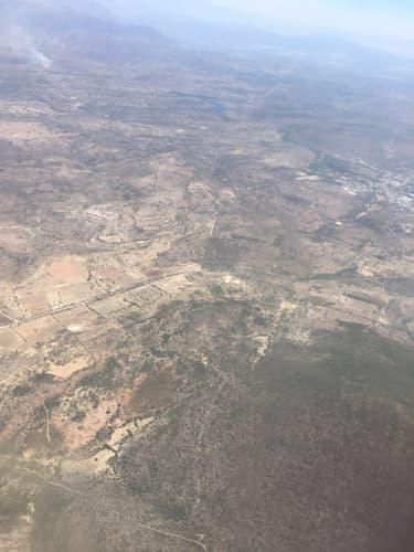 飛行機から見たメキシコ
