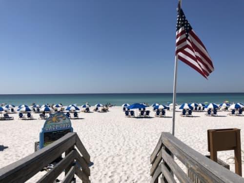 アメリカのビーチ