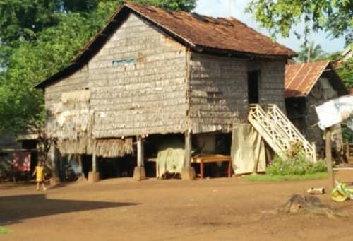 カンボジアの田舎の住宅