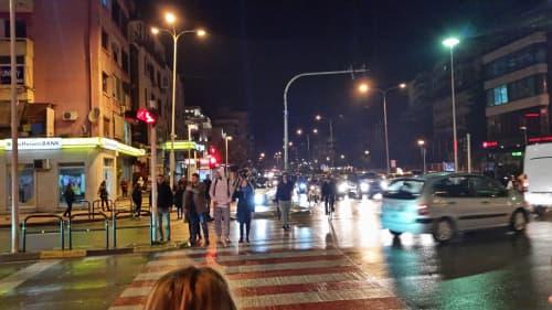 Blloku地区の夜の様子