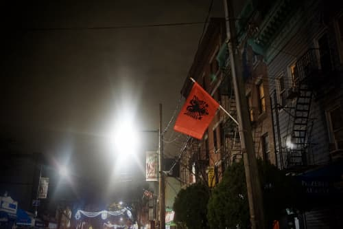 帰りに見かけた国旗