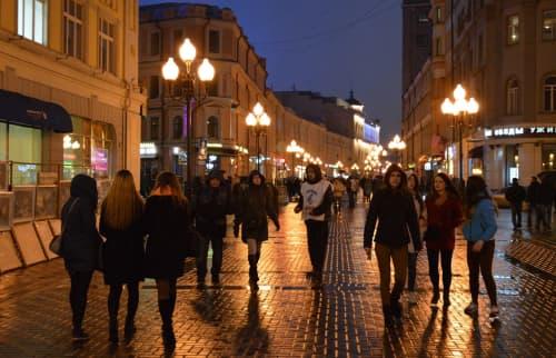 モスクワ市内の様子