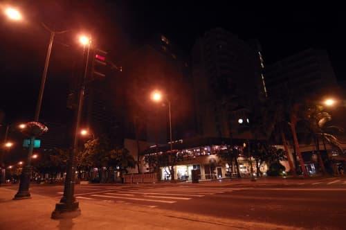夜中も街灯が沢山あって安心