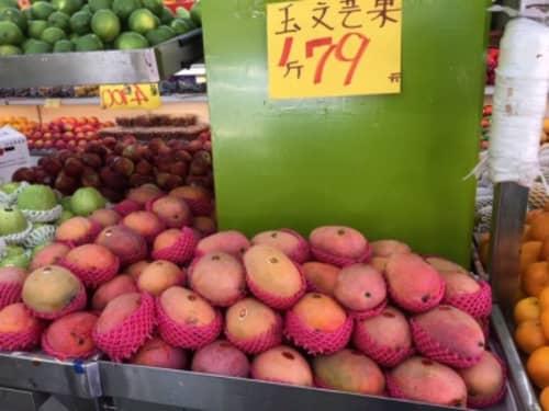 台湾マンゴー店頭