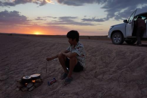 砂漠で遭難