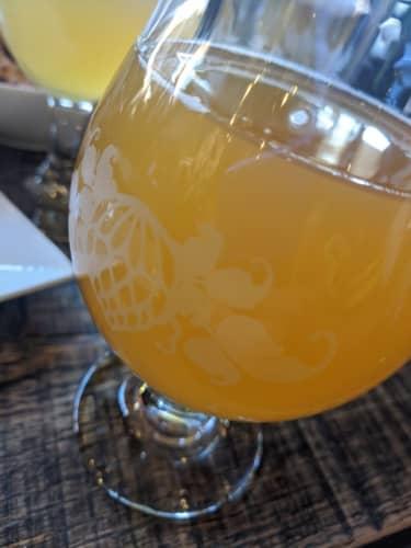 桃のビール