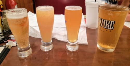 ビールの試飲