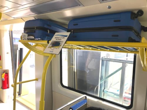 スーツケースも持ち込めるハワイの電車