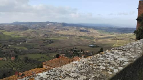 トスカーナの丘陵地帯