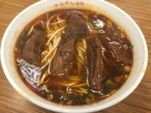 台北の紅燒牛肉麵