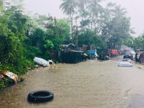 バリ島の風景 洪水