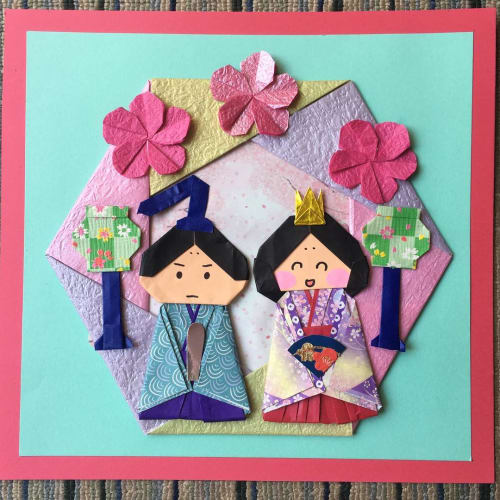 折り紙 花 桃 の