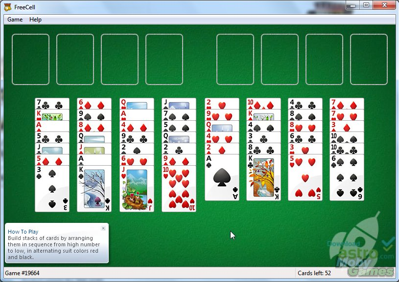 Free Cell Kartenspiel