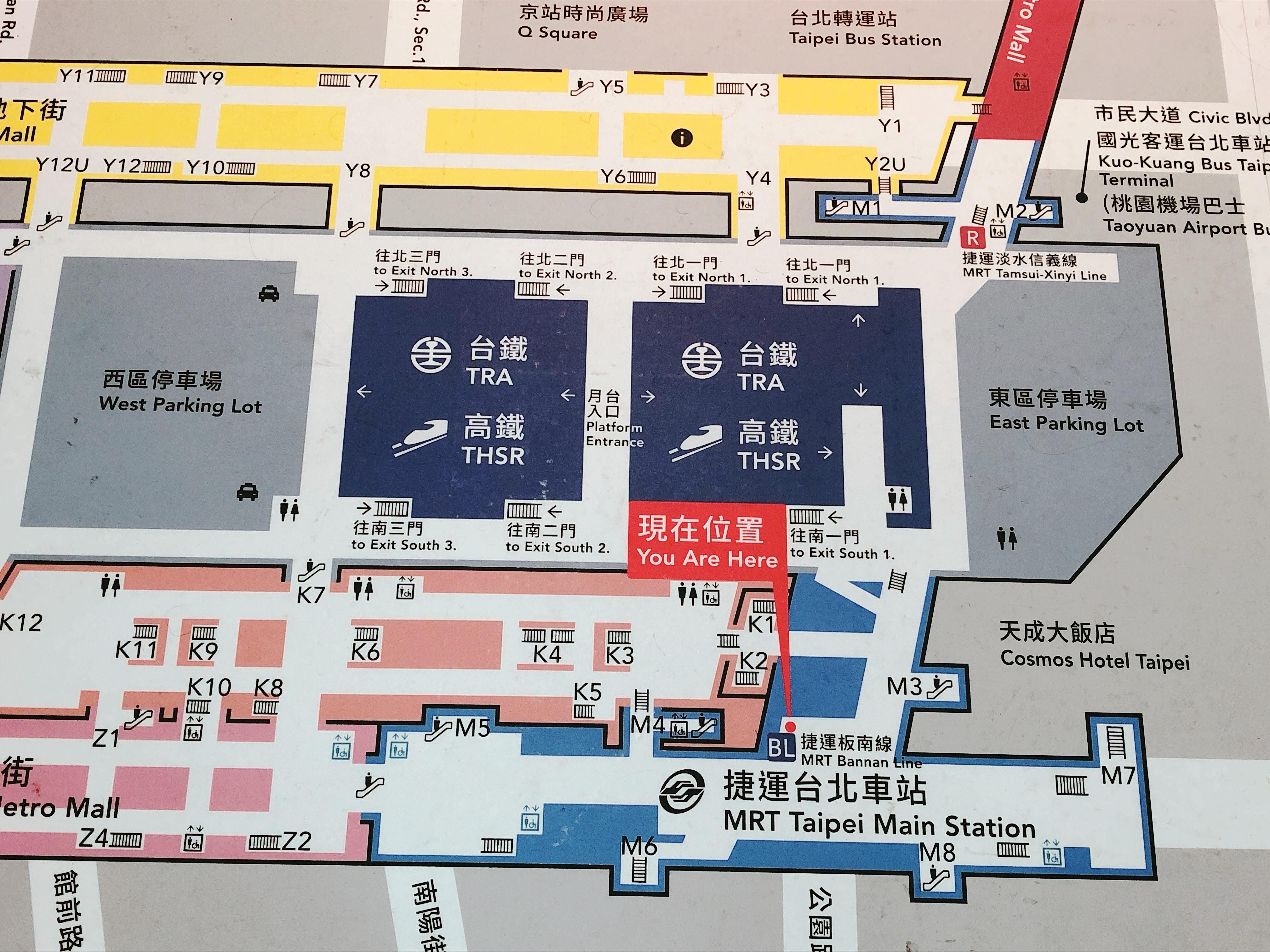 台北駅の地図