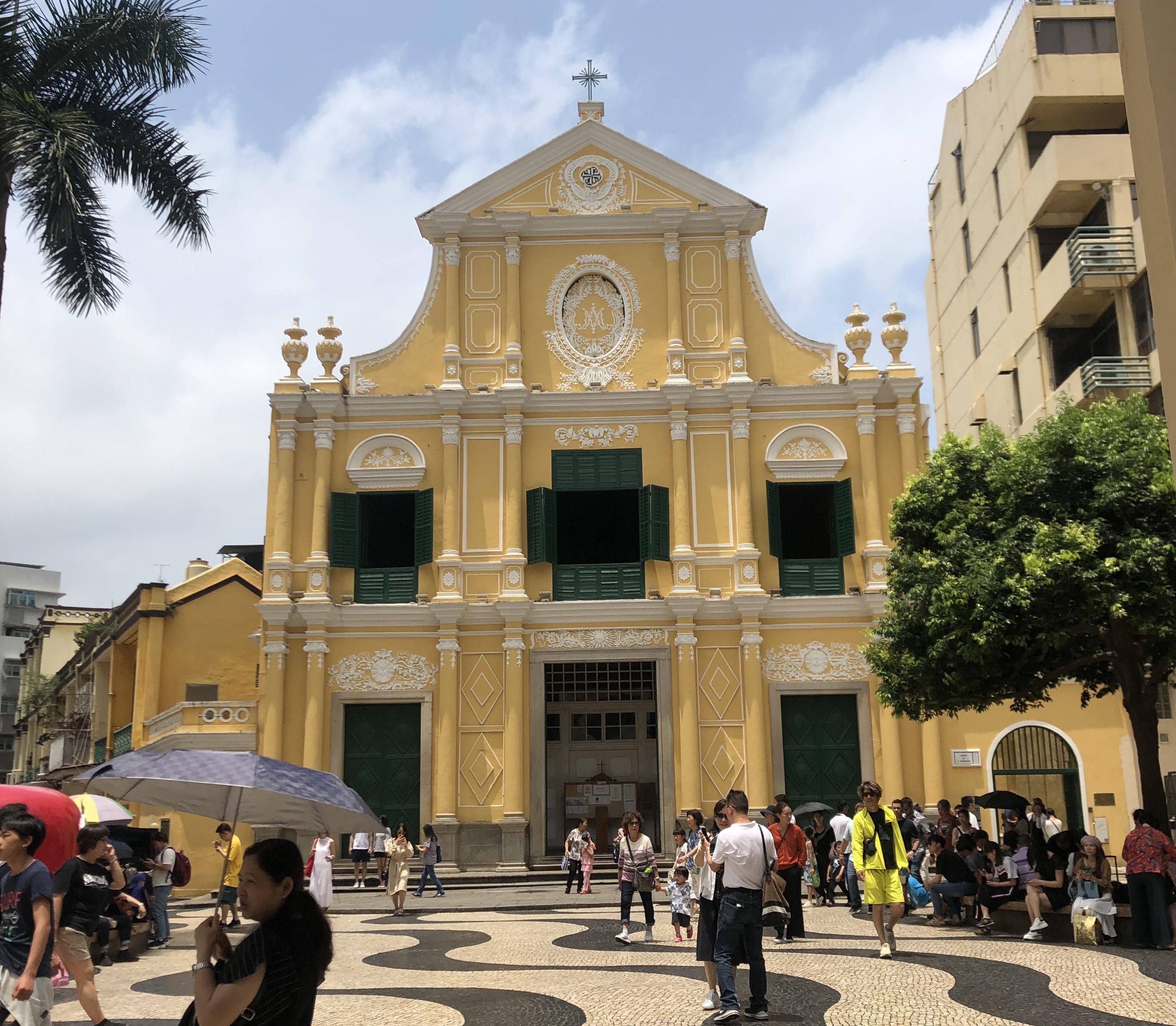 マカオ半島の風景 聖ドミニコ教会
