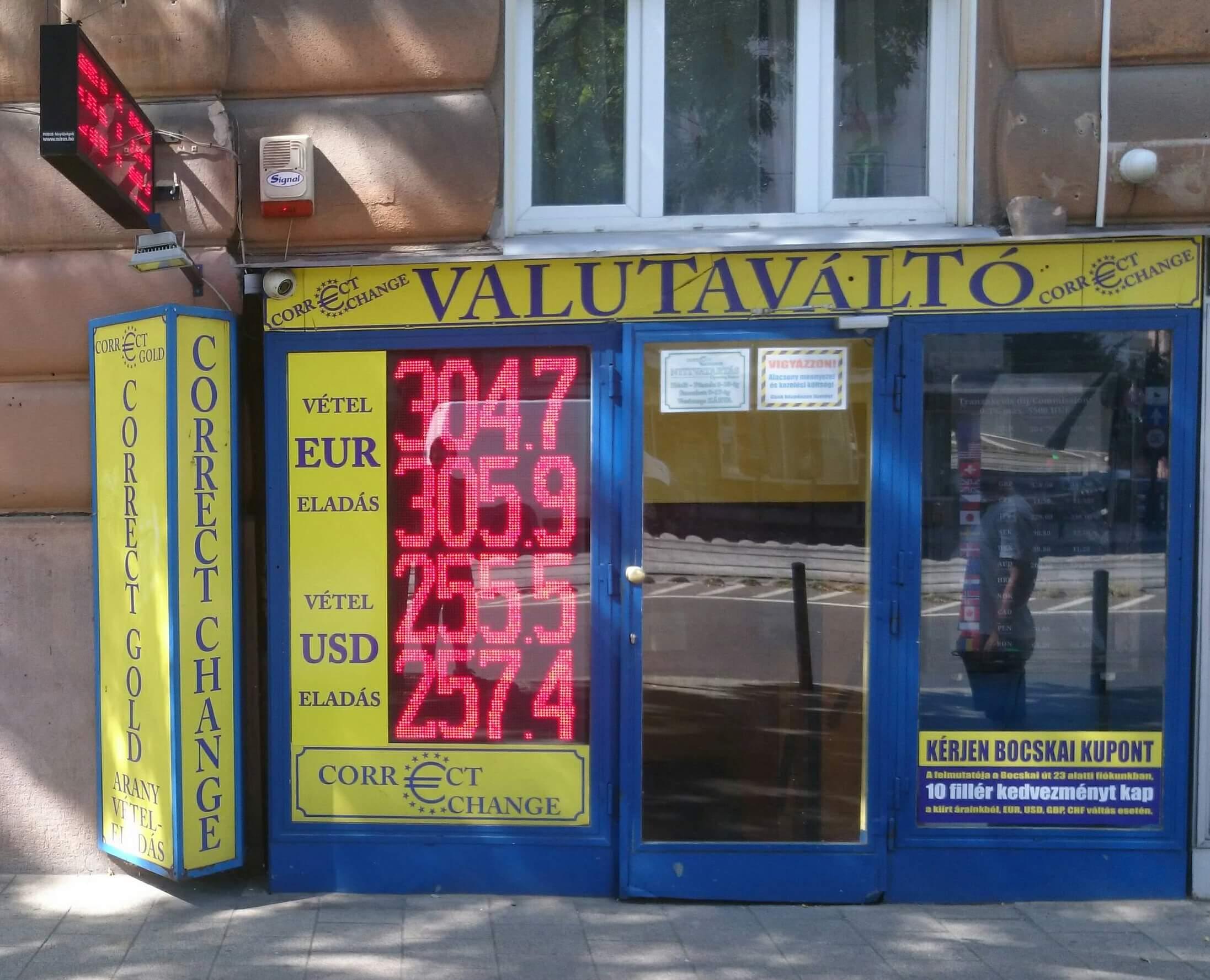 ハンガリーの両替所