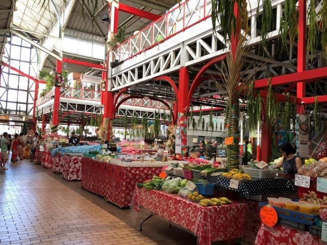 タヒチの市場