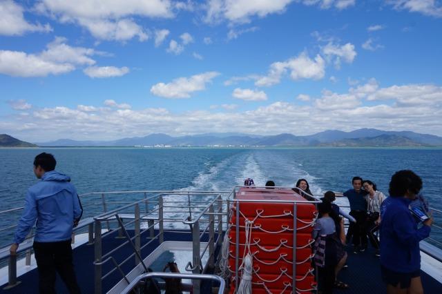グリーン島へ向かう船からの眺め