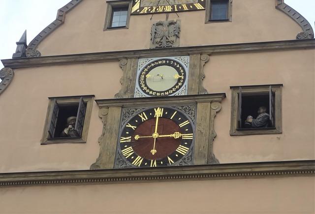 ローテンブルク マルクト広場 仕掛け時計