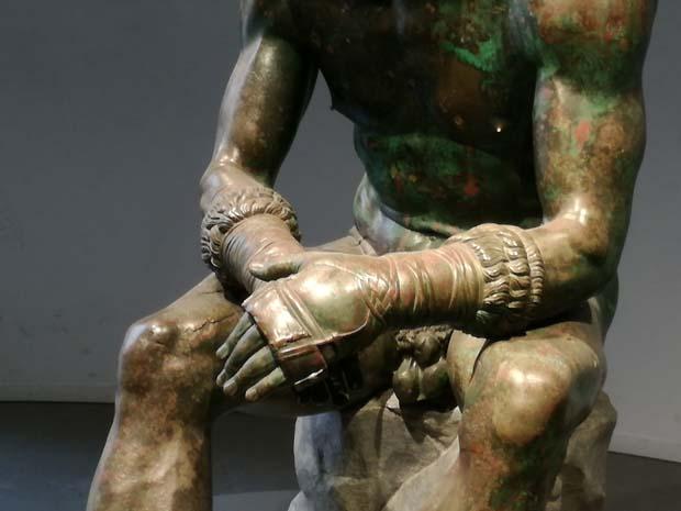 ローマの美術館の照明