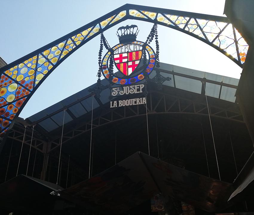 バルセロナのボケリア市場