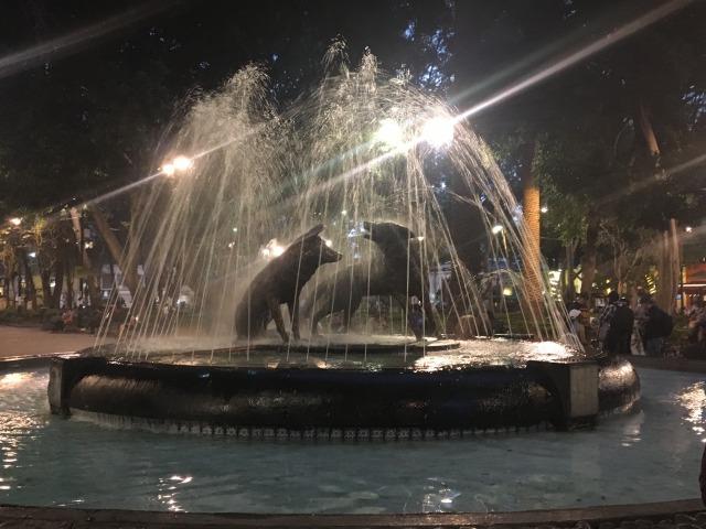 メキシコシティ コヨアカン コヨーテの噴水
