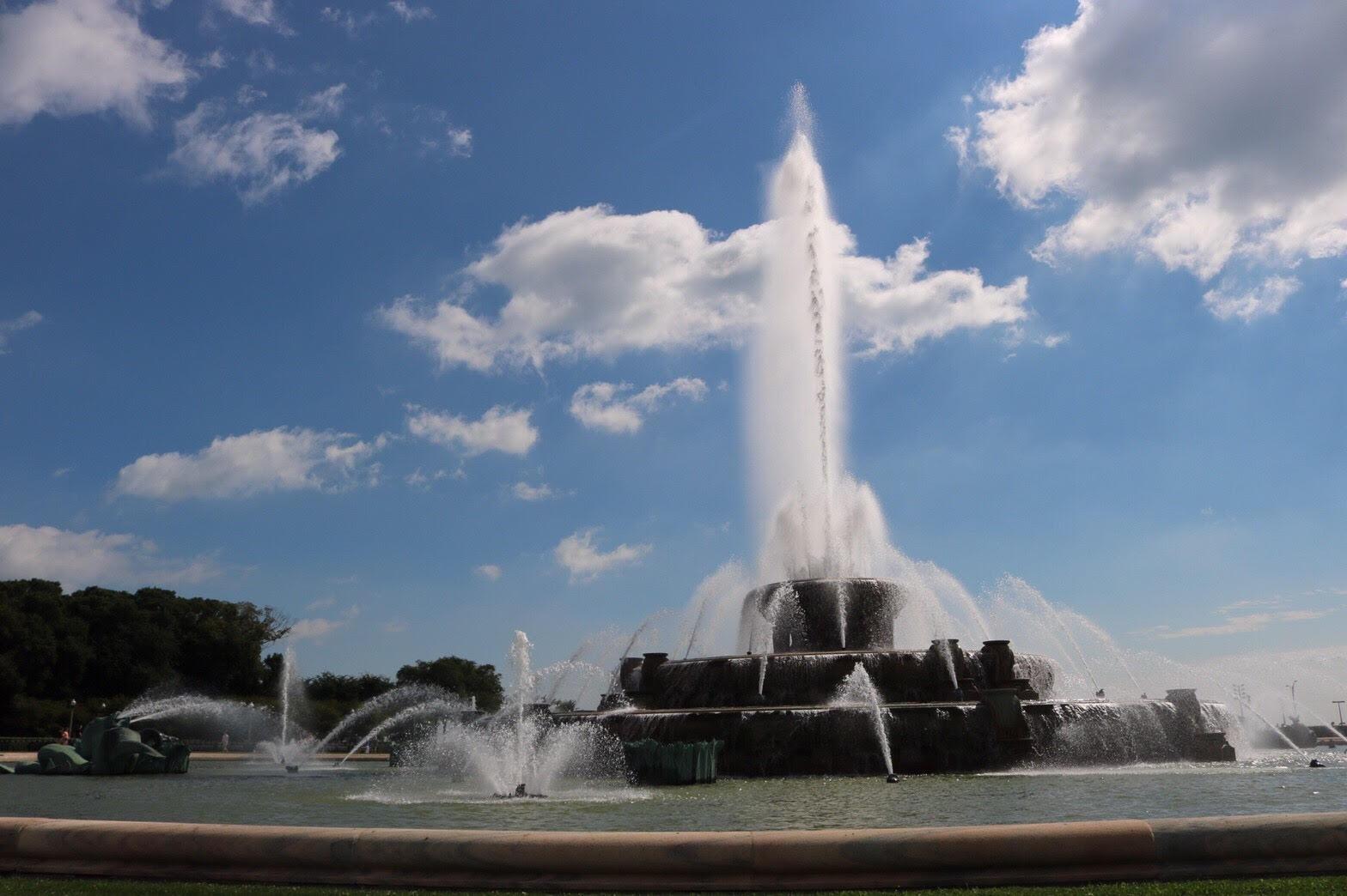 シカゴ バッキンガム噴水