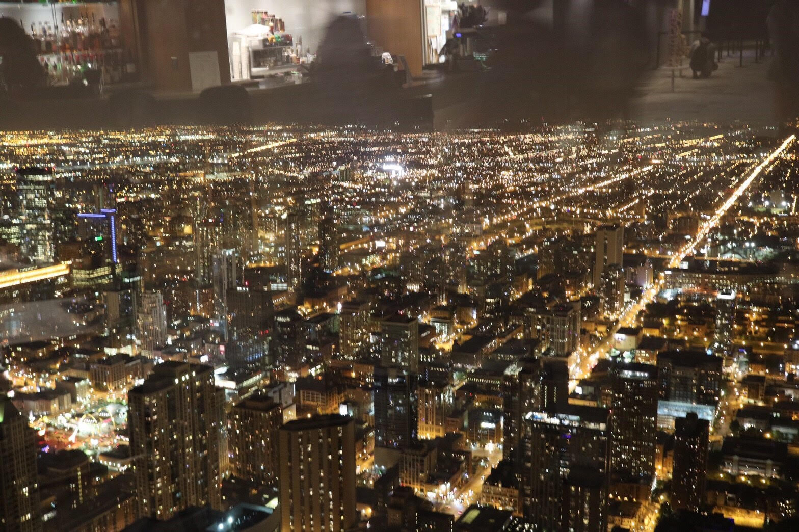 シカゴ ウィリス・タワーからの夜景