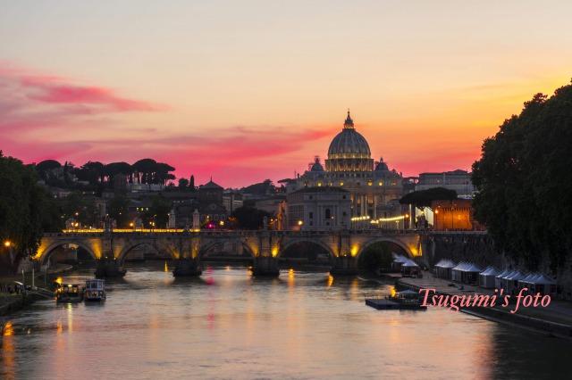 美しいローマの街並み