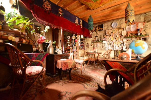 トルコ ギョレメ市内のカフェ