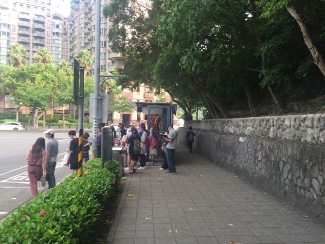 台湾のバス乗り場 故宮博物院